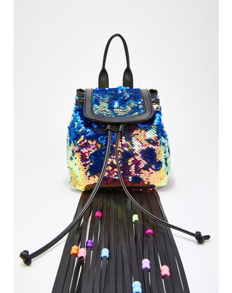 Sinful Starfire Fringe Backpack
