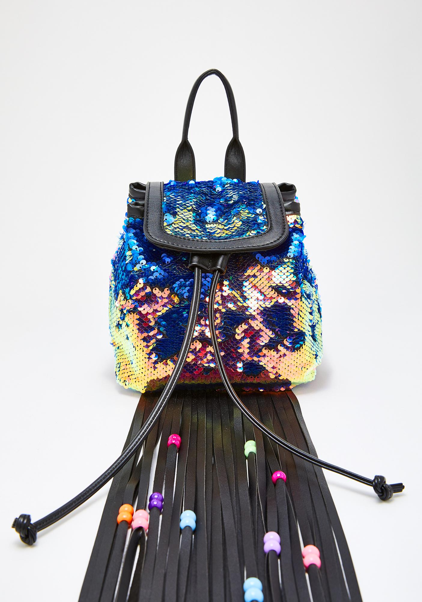 Club Exx Sinful Starfire Fringe Backpack