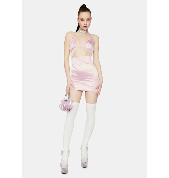 Talk About Love Cutout Satin Bodycon Mini Dress