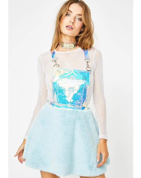 Glacier Gurl Hologram Overall Dress
