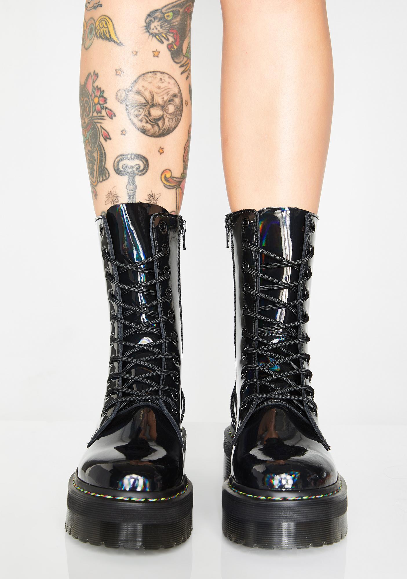 b90f560b754 ... Dr. Martens Jadon Hi Rainbow Boots ...