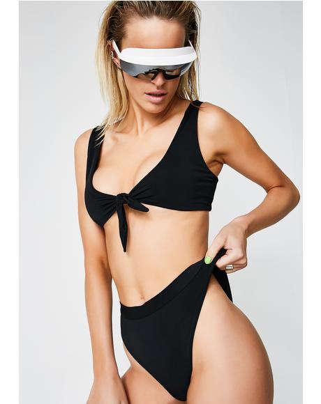 Seamless High Waist Bikini Bottoms