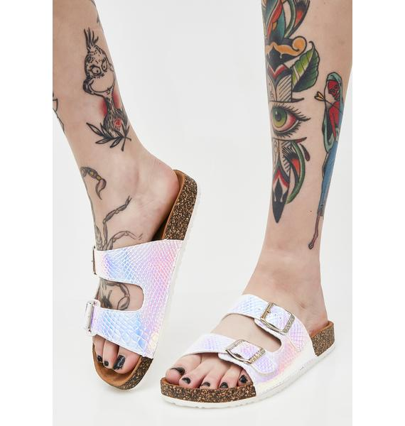 Vanilla Painless Bite Hologram Sandals