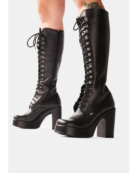 Nirvana Leather Knee High Boots