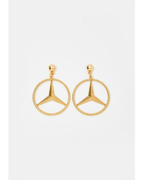 Golden Benz Earrings