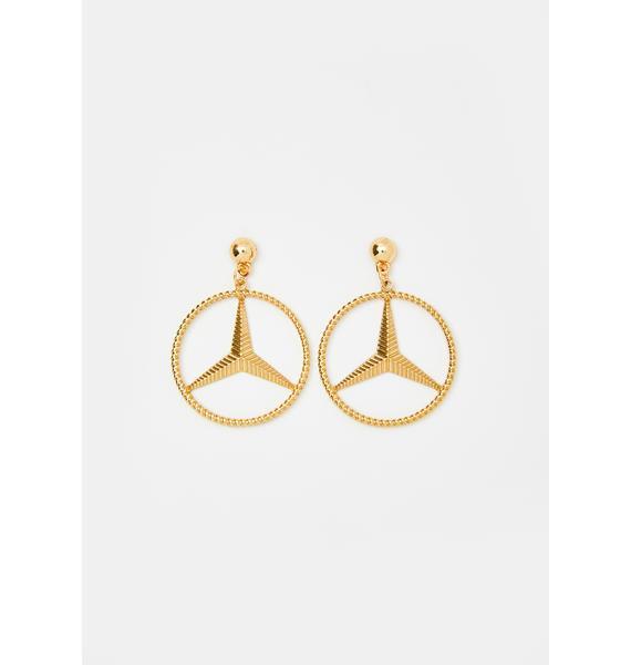 Amarachi Golden Benz Earrings