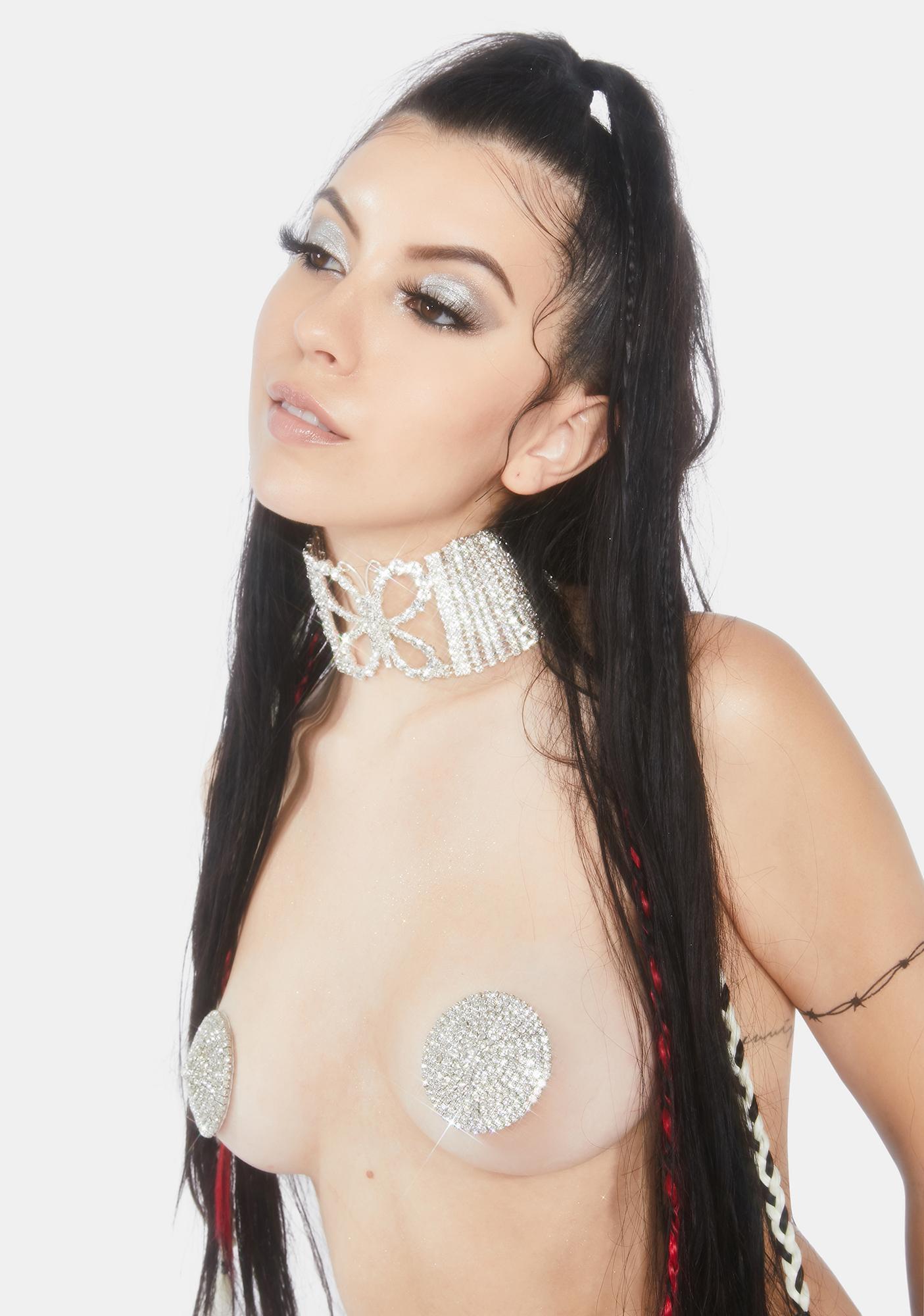 Neva Nude Crystal Cage Reusable Pasties