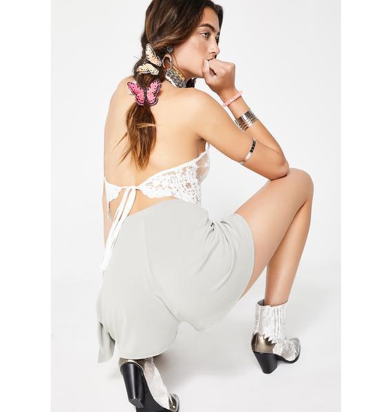 Sage Miss Sunshine Tie Skort