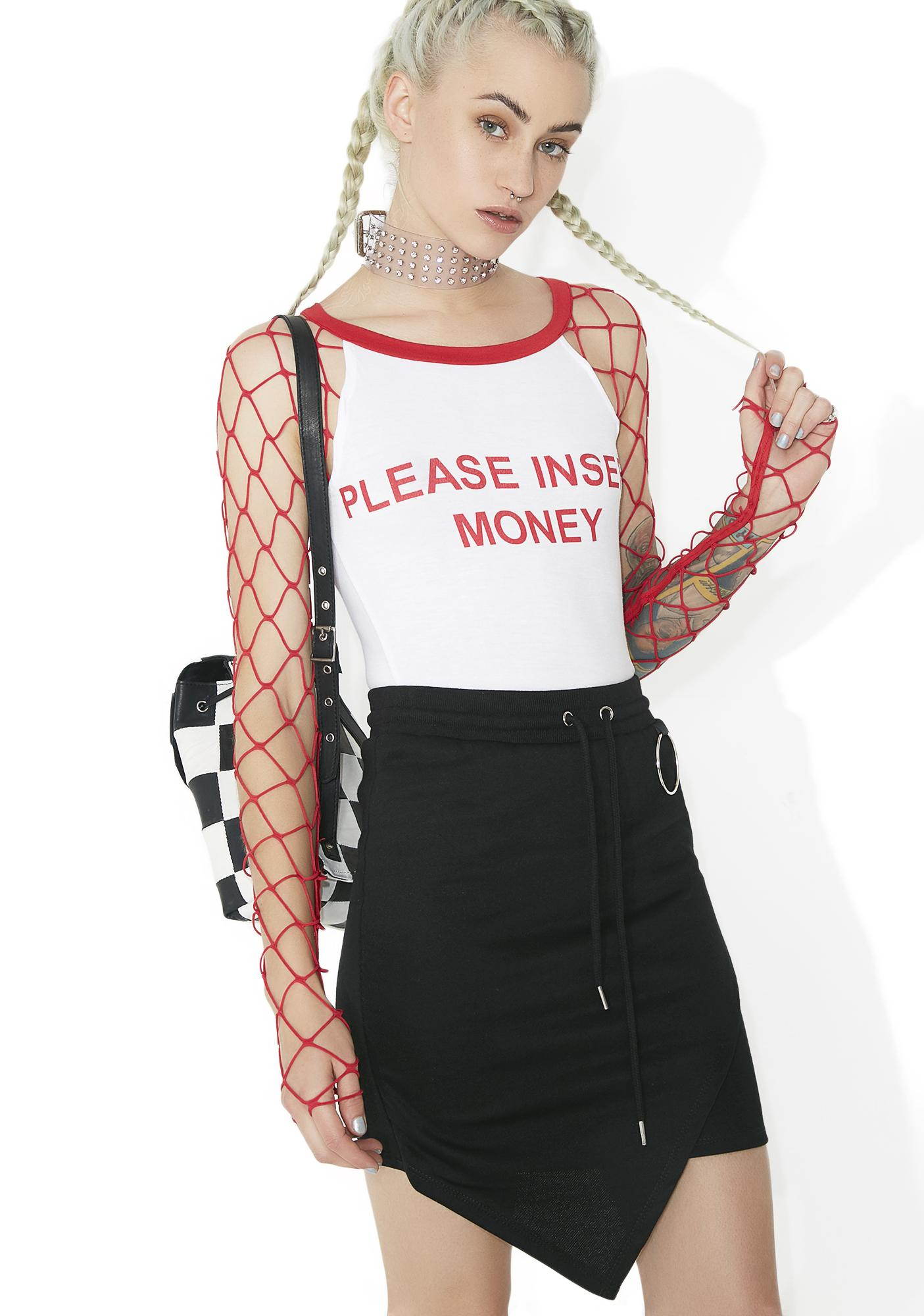 Kiki Riki Cash Out Fishnet Tee