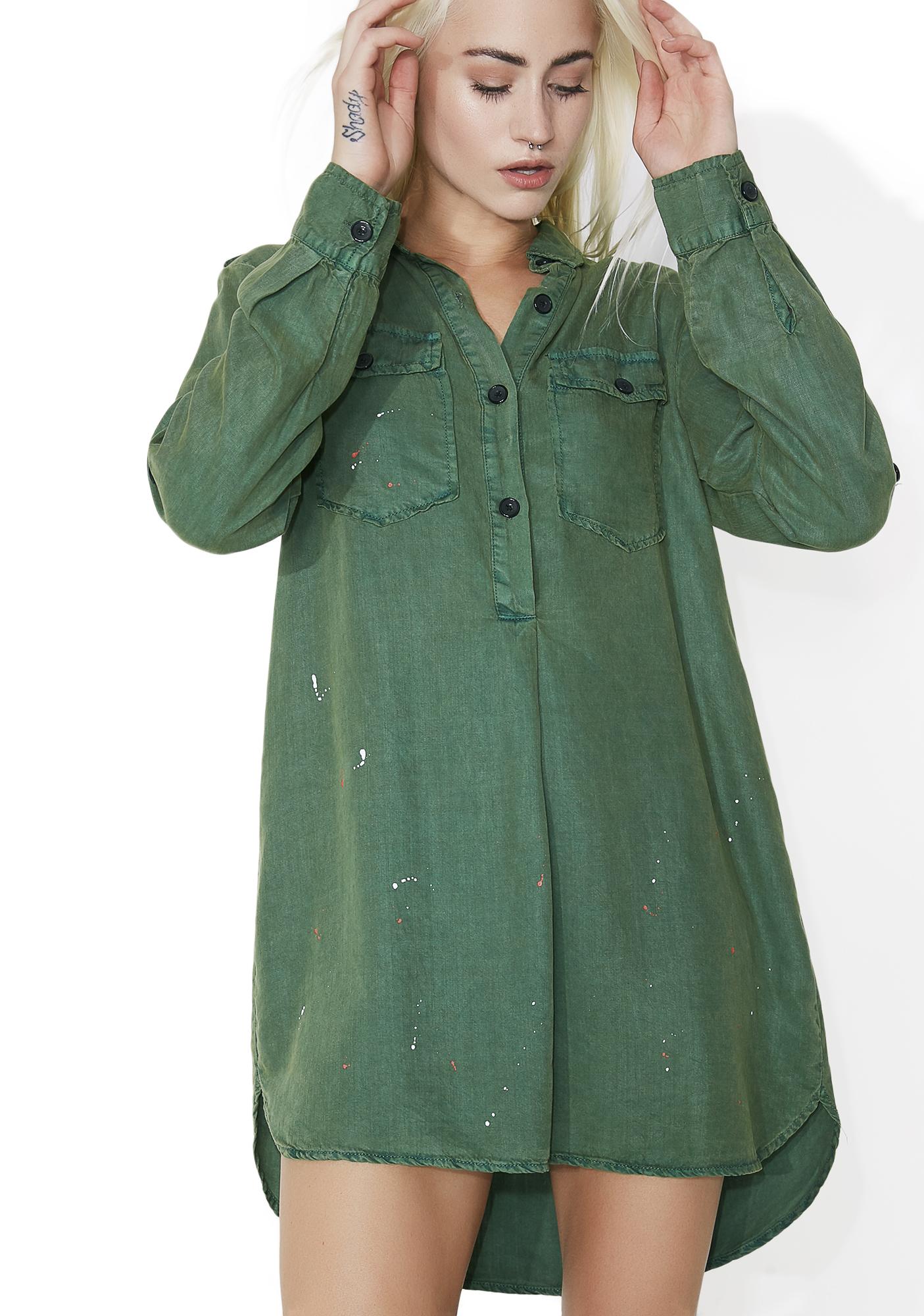 Paint Splatter Green TunicTop