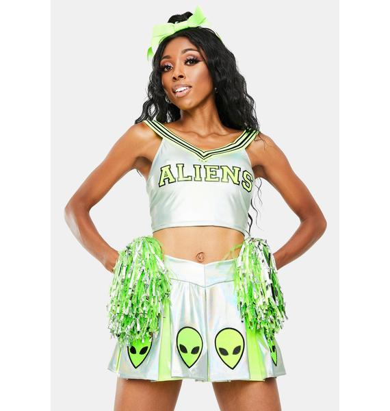 Trickz N' Treatz Area 51 Raid Cheerleader Costume