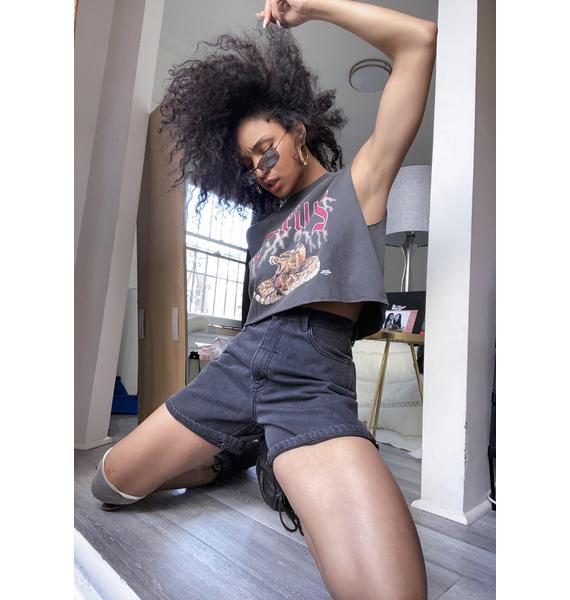 THRILLS Faded Black Koko Shorts