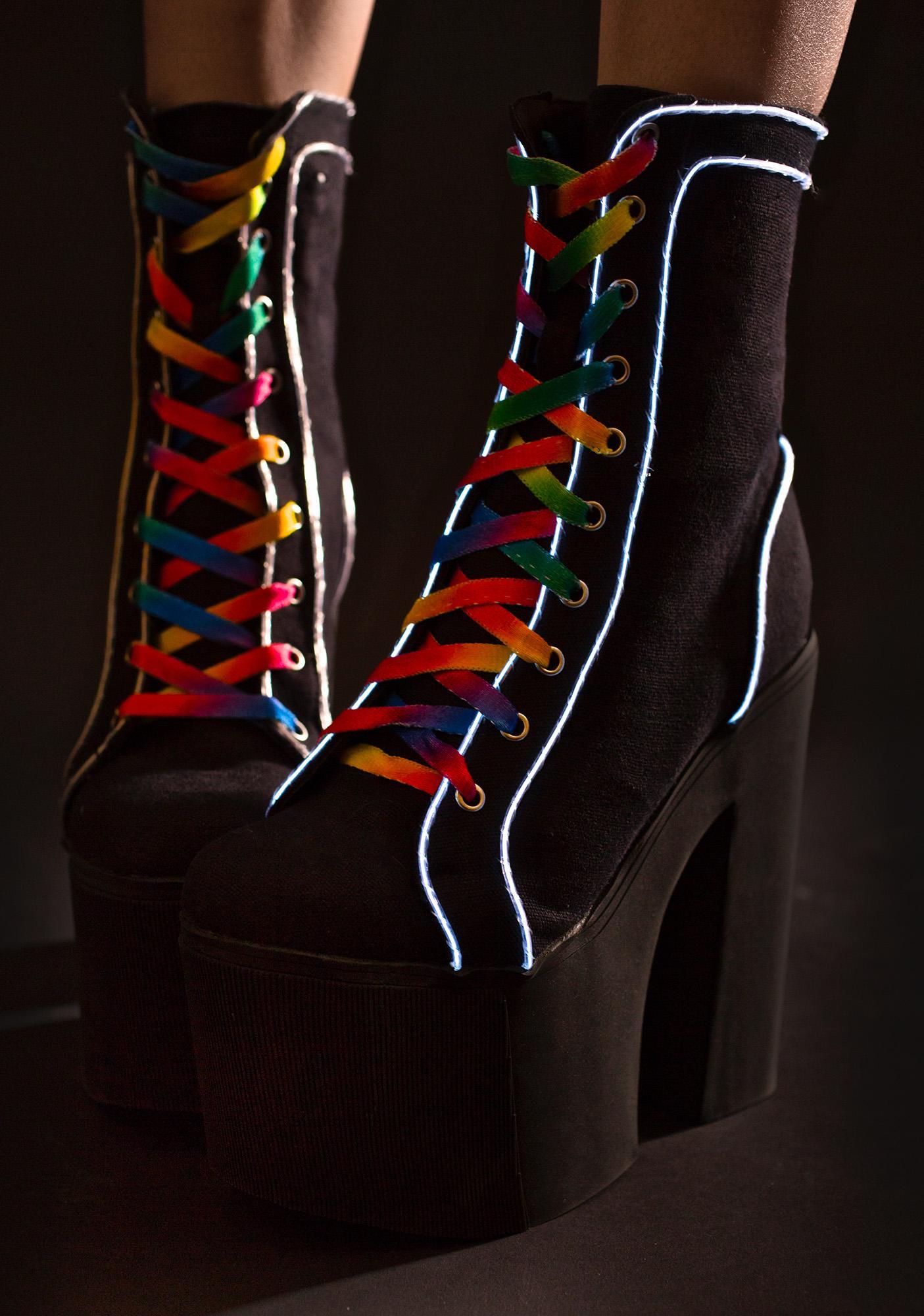 Current Mood Lightshow Platform Boots