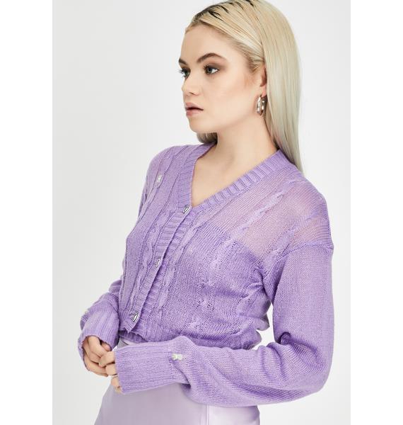 ZEMETA Lavender Silver Star Knit Set