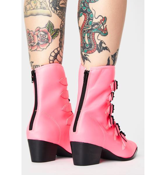 Strange Cvlt Pink Coven Boots