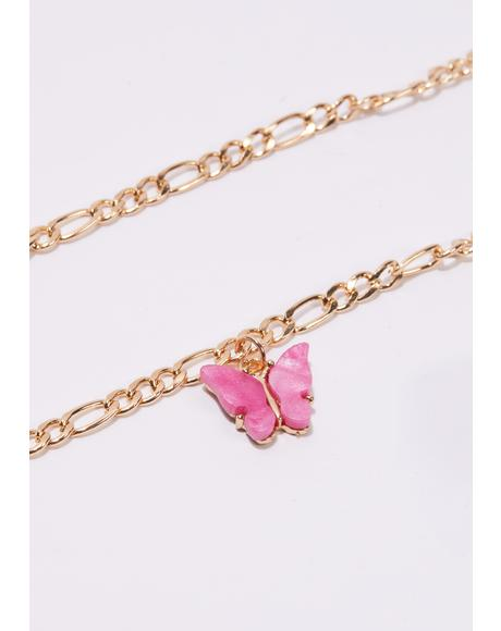 Butterfly Bae Chain Anklet