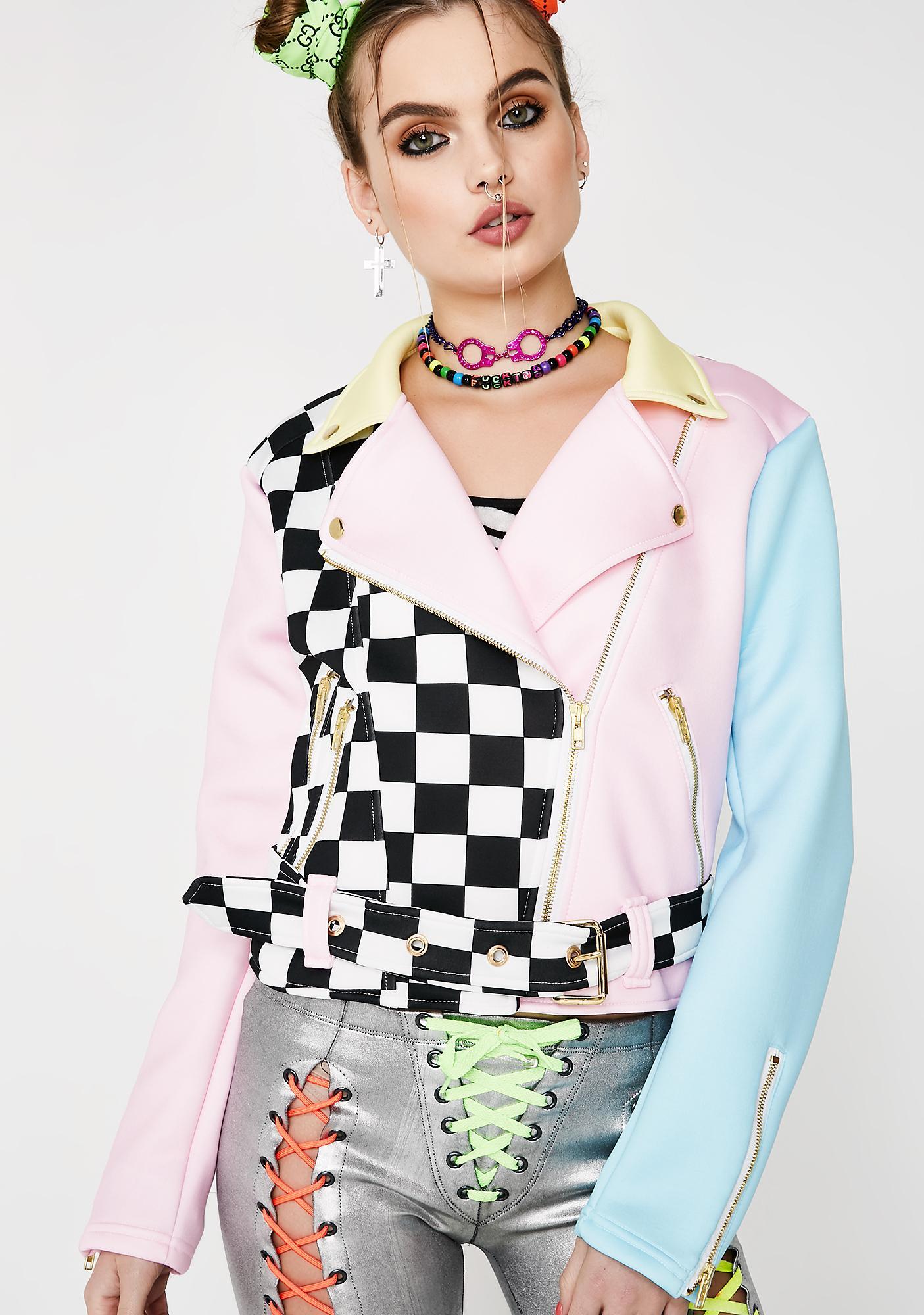 Sugarpills Checkmate Moto Jacket