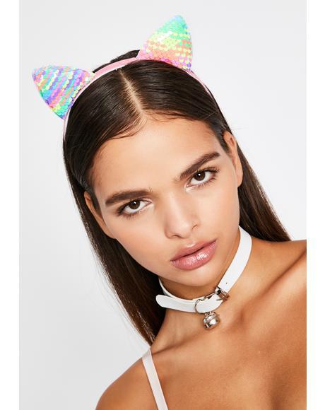 Magical Catnip Cutie Sequin Headband