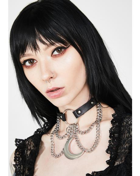 Over The Moon Chain Choker