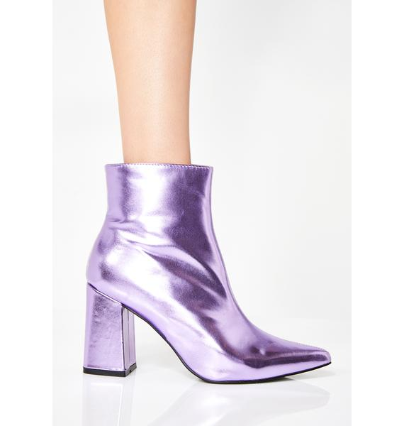 Public Desire Amethyst Chaos Two-Tone Ankle Boots