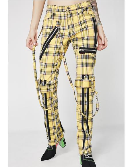 Plaid Bondage Pants