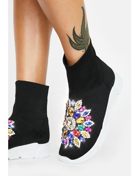 Siren Rhinestone Sock Boots