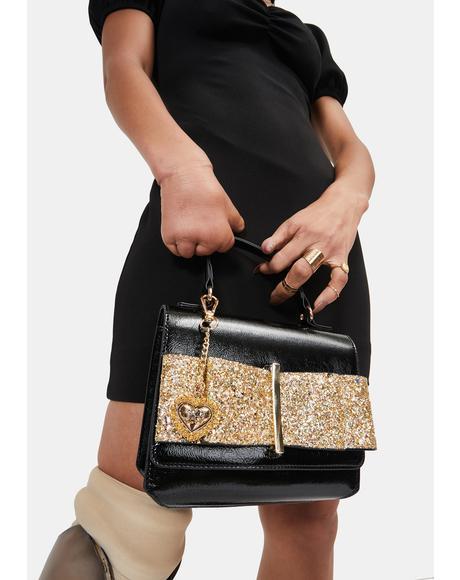 Glitter Bow Crossbody Bag