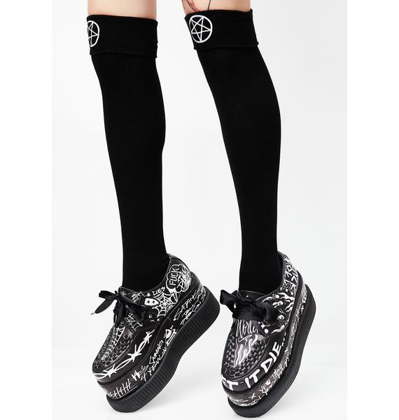 Killstar School Ghoul Long Sock