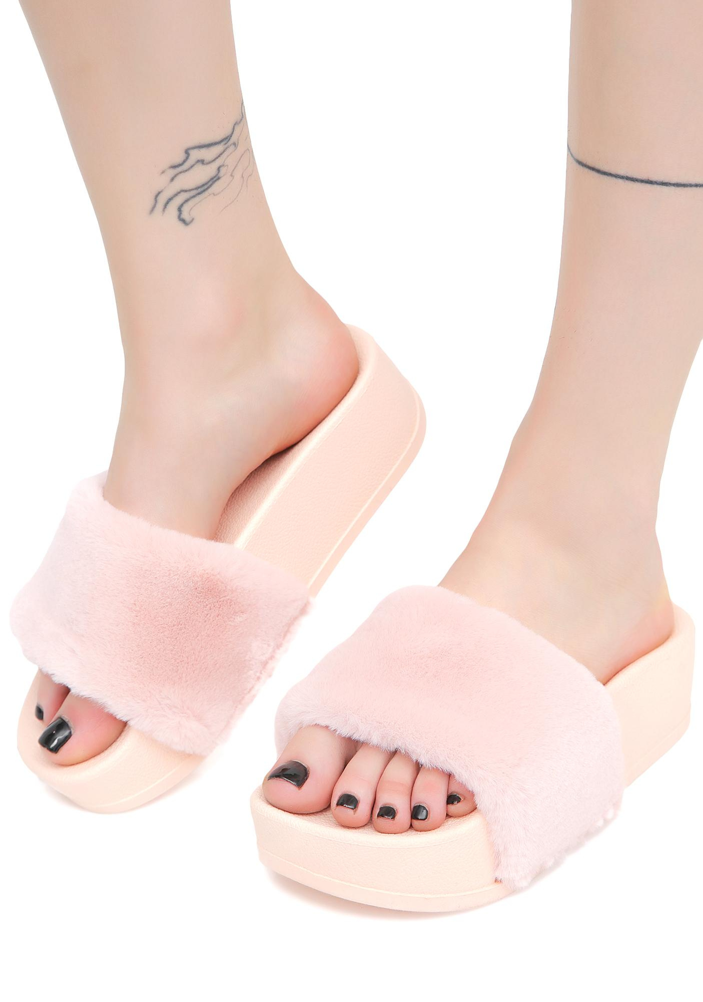 Strawberry Paxton Furry Slides