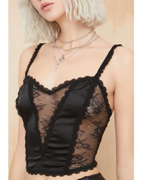 Lost But Not Found Lace Cami