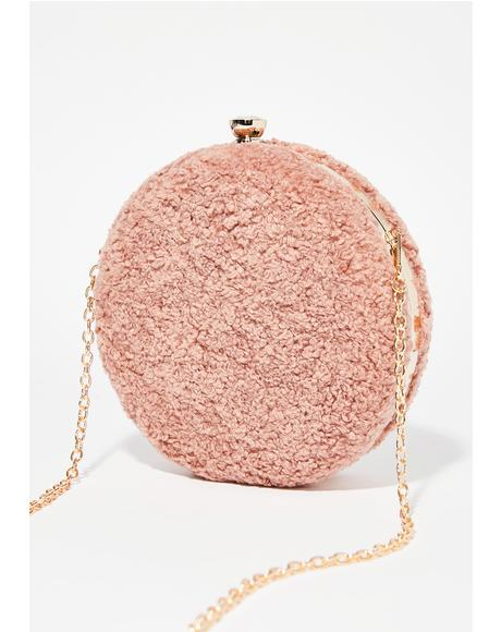 Hit The Target Fuzzy Crossbody Bag