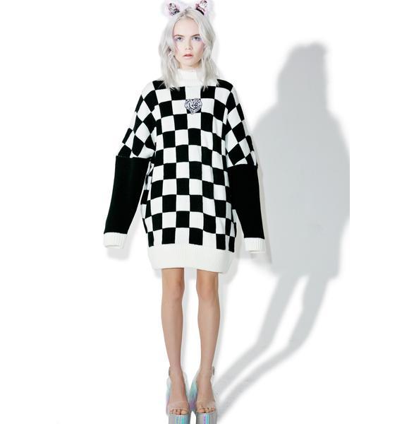 Little Sunny Bite Checker Big Knit Dress