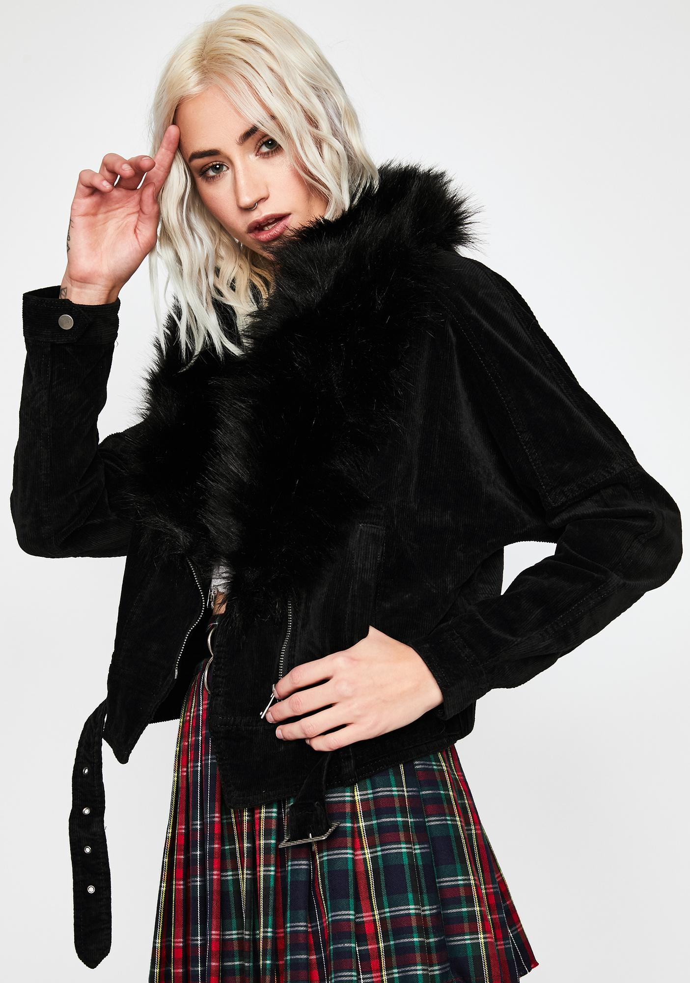 Bewitching Hour Faux Fur Jacket