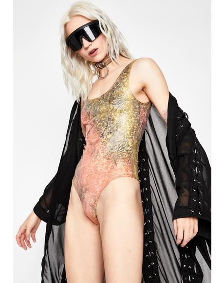 Hit The Jackpot Metallic Bodysuit
