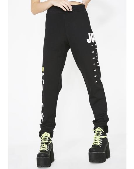 Black Multi- Juicy Logo Pants