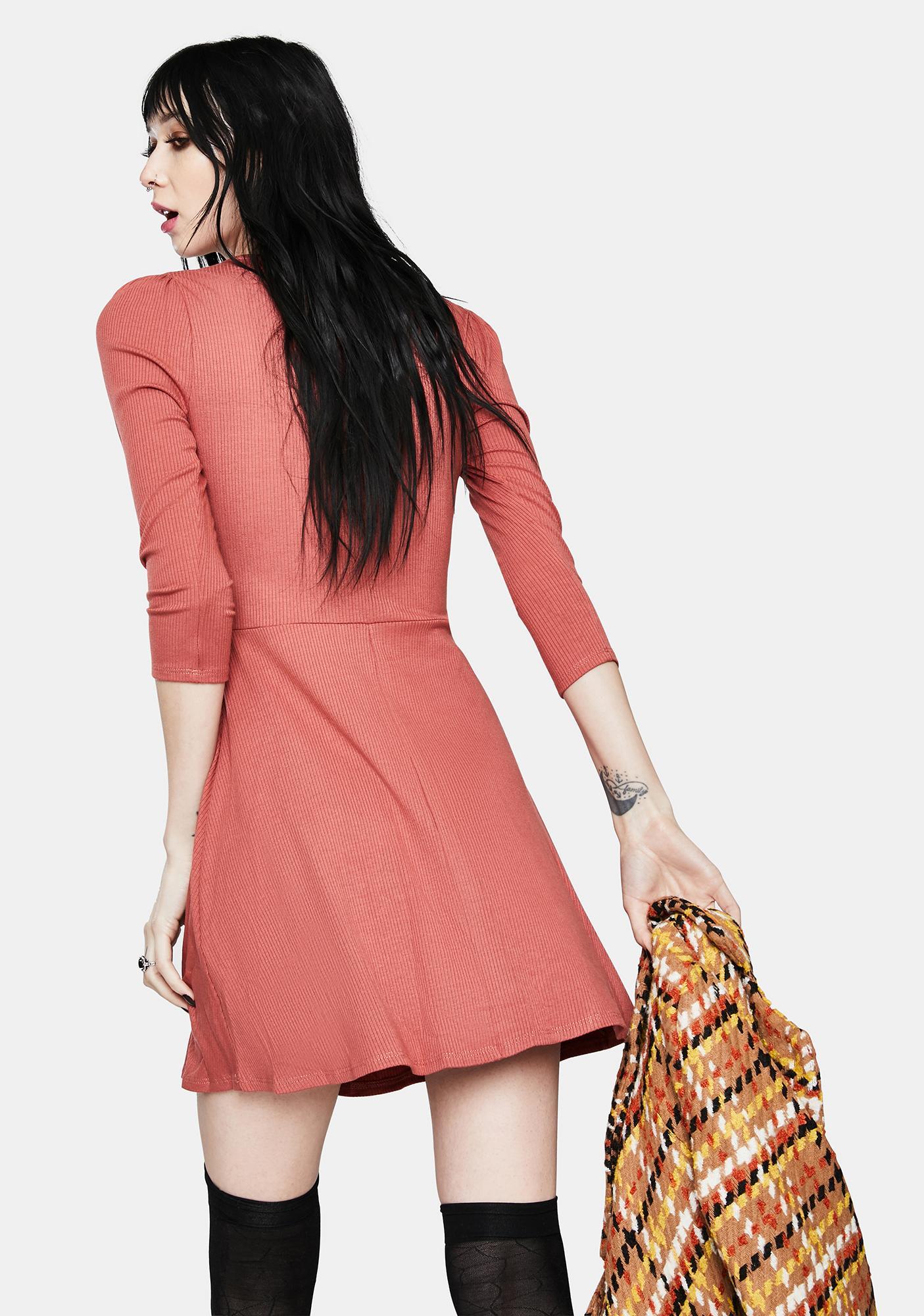 Coral Buy Me A Drank Mini Dress
