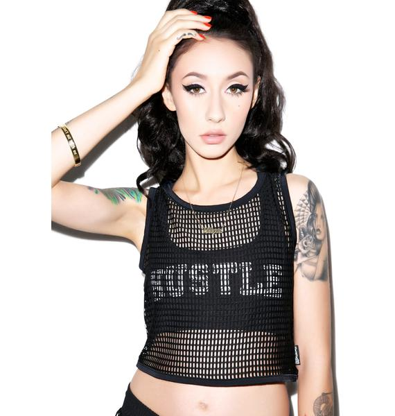 Hot!MeSS Mesh Crop Top