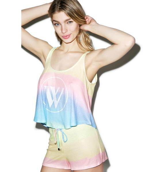Wildfox Couture Pastel Tie Dye Sun Shorts