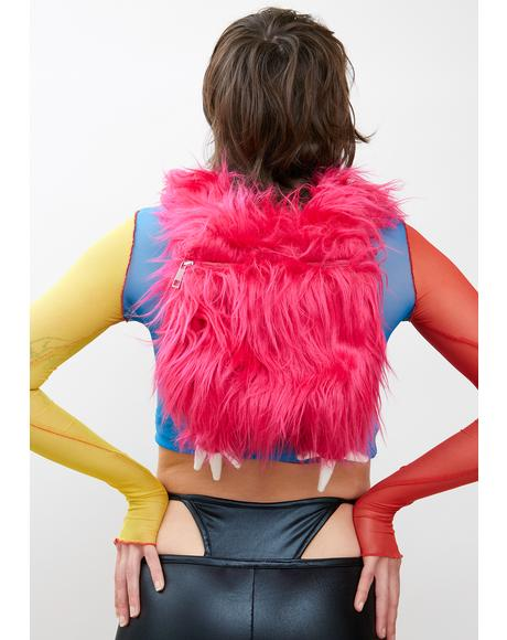 She Creature Fuzzy Backpack