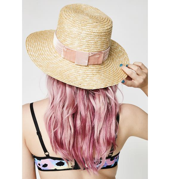 Lack of Color Pink Velour Hat
