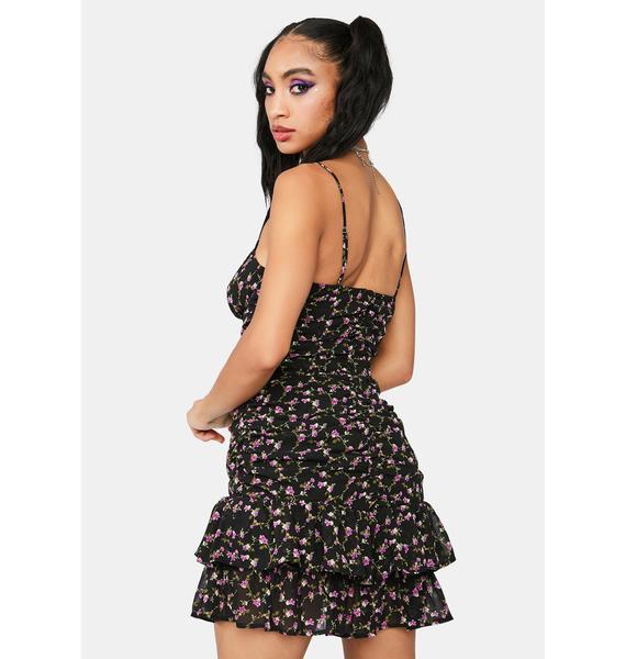 Secret's Out Floral Mini Dress