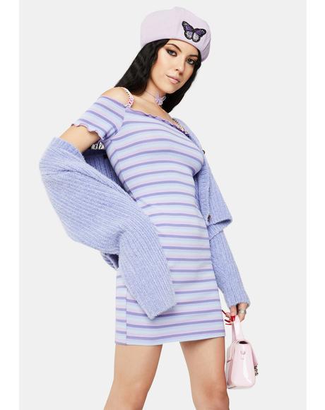 Rainbow Stripe Chain Dress