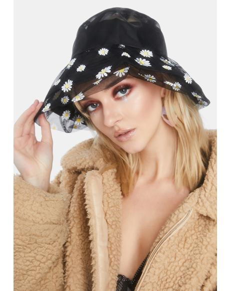 Dark Garden Party Layered Bucket Hat