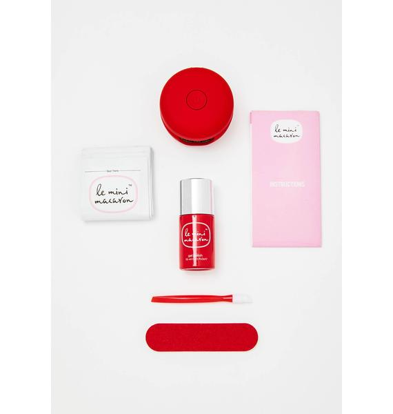Le Mini Macaron Cherry Red Gel Manicure Kit