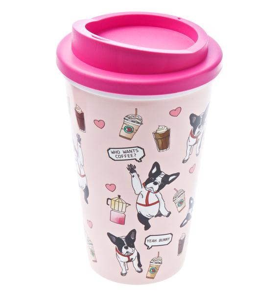 Yeah Bunny Frenchie Coffee Tumbler