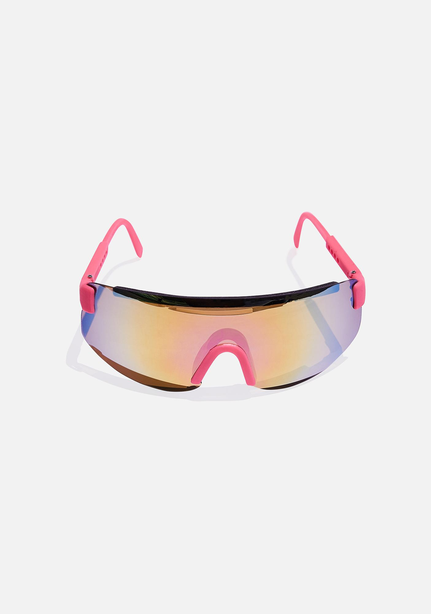 Good Times Eyewear Pink Beach Sunglasses