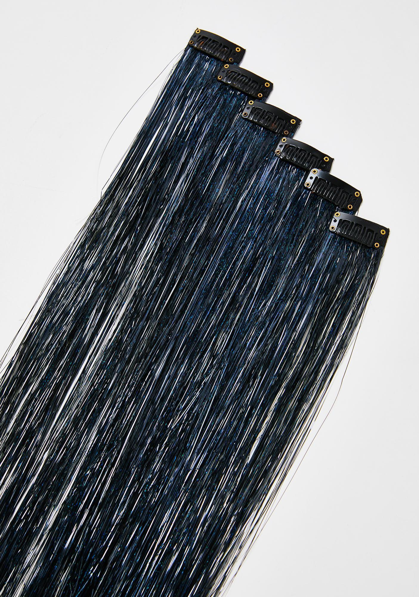 SHRINE Black Tinsel Hair Extensions