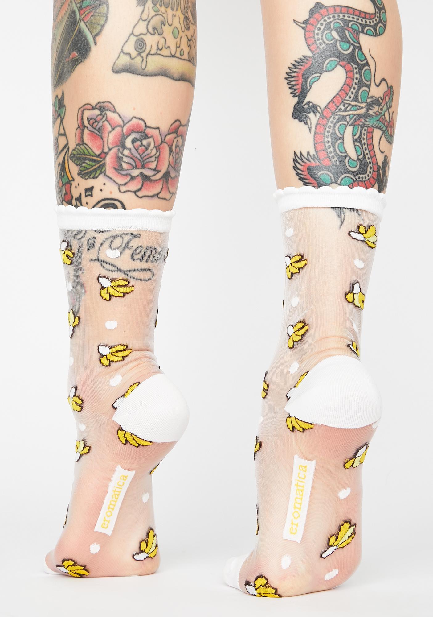 Eromatica Banana Sheer Transparent Socks