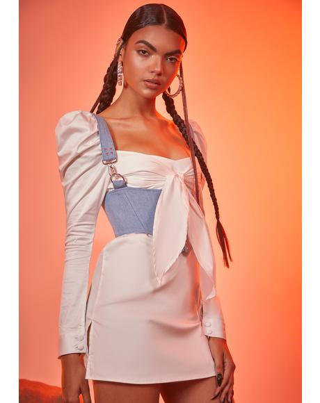 Not Your Damsel Corset Mini Dress
