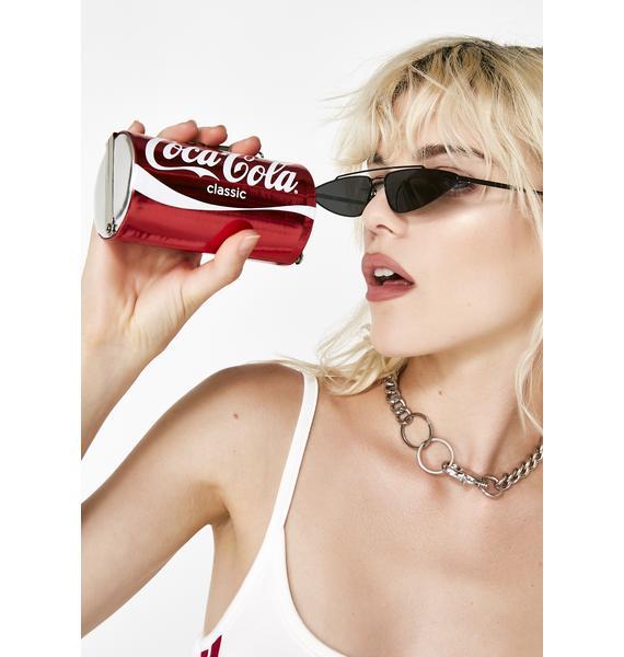 But First A Coca-Cola Can Clutch